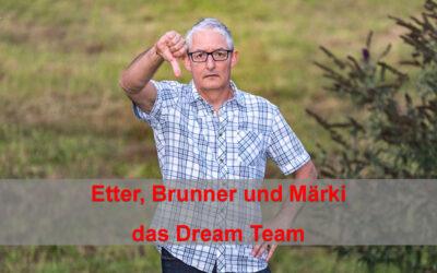 Adrian Brunner Christiam Märki und Frau Dr Heidi Etter das Dream Team